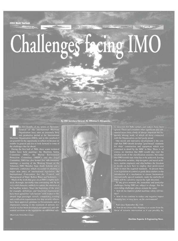 Maritime Reporter Magazine, page 26,  Jun 2004