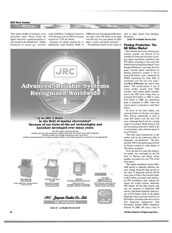 Maritime Reporter Magazine, page 36,  Jun 2004