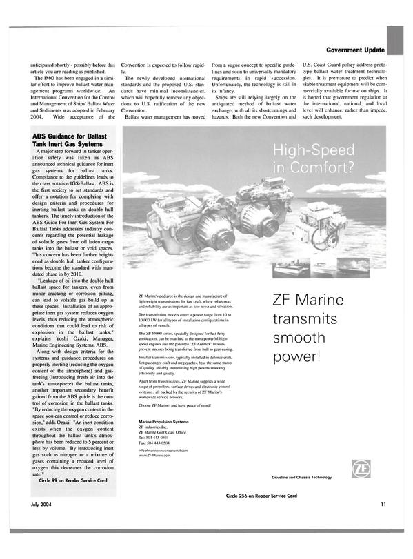 Maritime Reporter Magazine, page 11,  Jul 2004