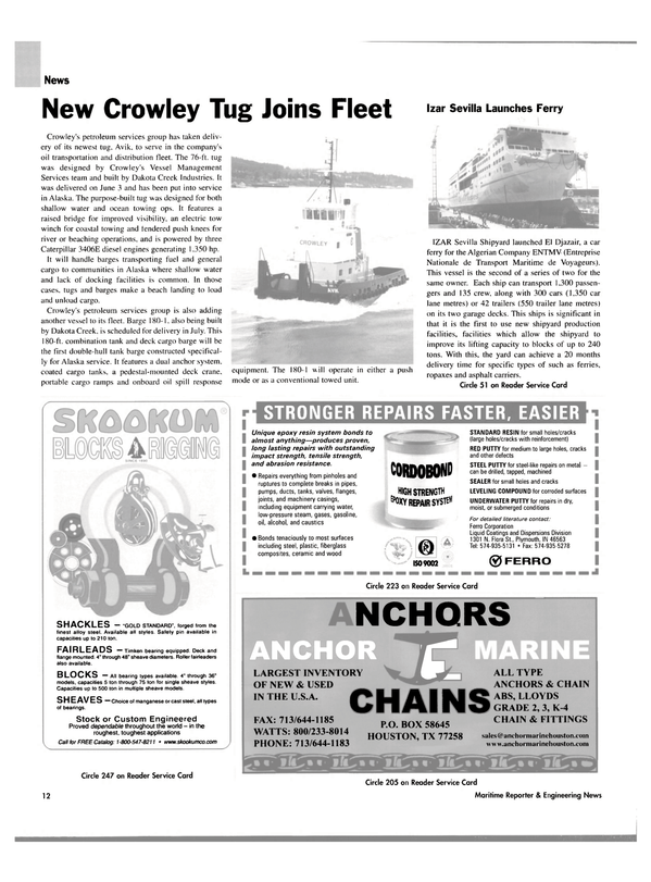 Maritime Reporter Magazine, page 12,  Jul 2004