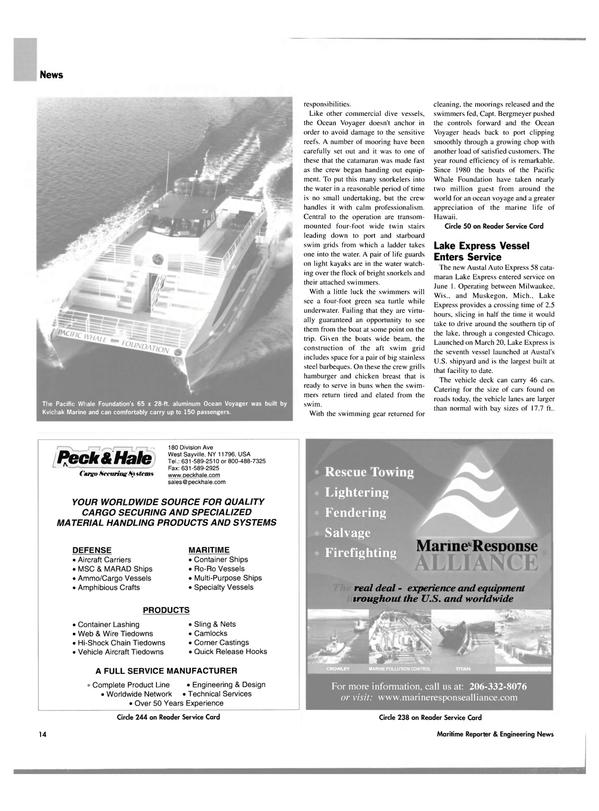 Maritime Reporter Magazine, page 14,  Jul 2004 Michigan