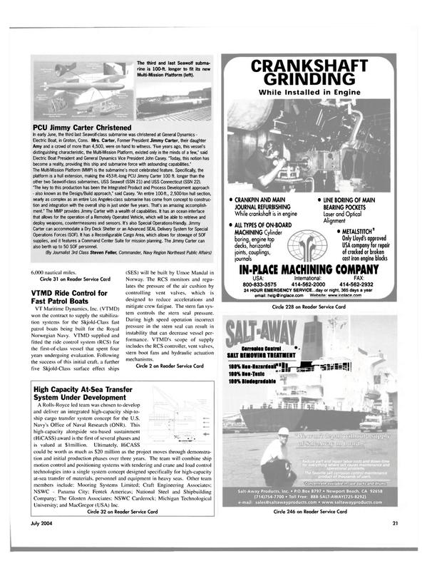 Maritime Reporter Magazine, page 21,  Jul 2004