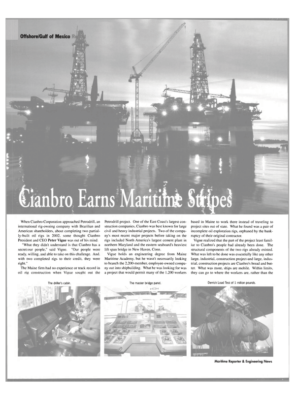 Maritime Reporter Magazine, page 26,  Jul 2004 Connecticut