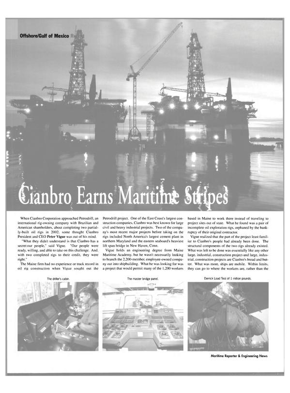 Maritime Reporter Magazine, page 26,  Jul 2004