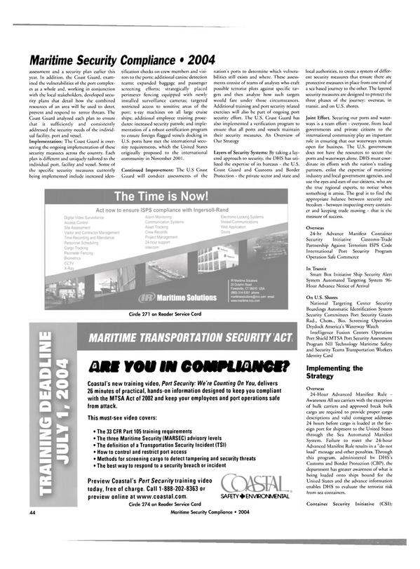Maritime Reporter Magazine, page 44,  Jul 2004 automatic identification system