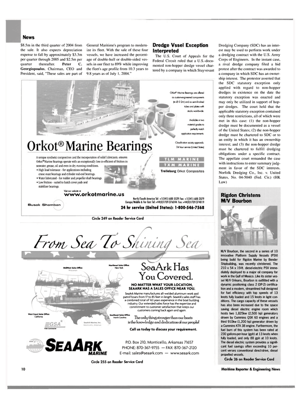 Maritime Reporter Magazine, page 10,  Aug 2004 Peter C. Georgiopoulos