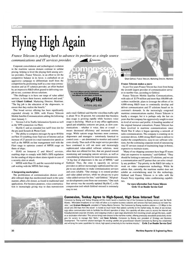 Maritime Reporter Magazine, page 20,  Aug 2004