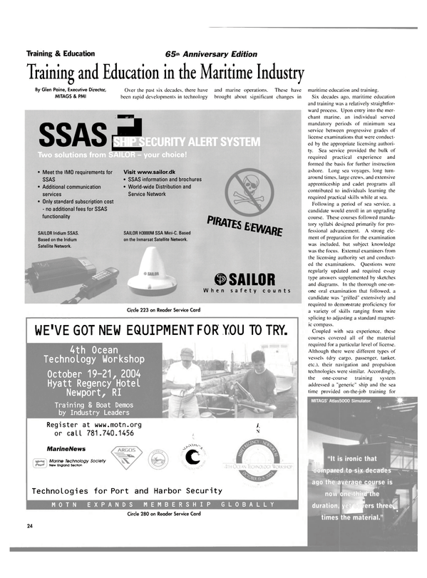 Maritime Reporter Magazine, page 24,  Aug 2004