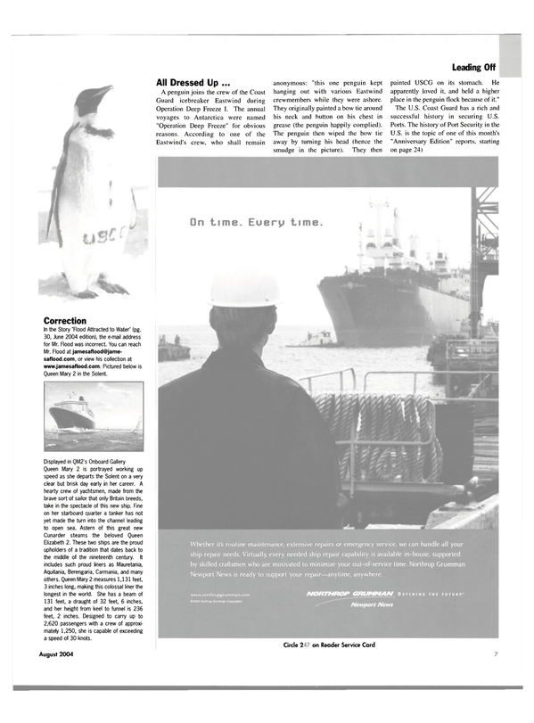 Maritime Reporter Magazine, page 7,  Aug 2004