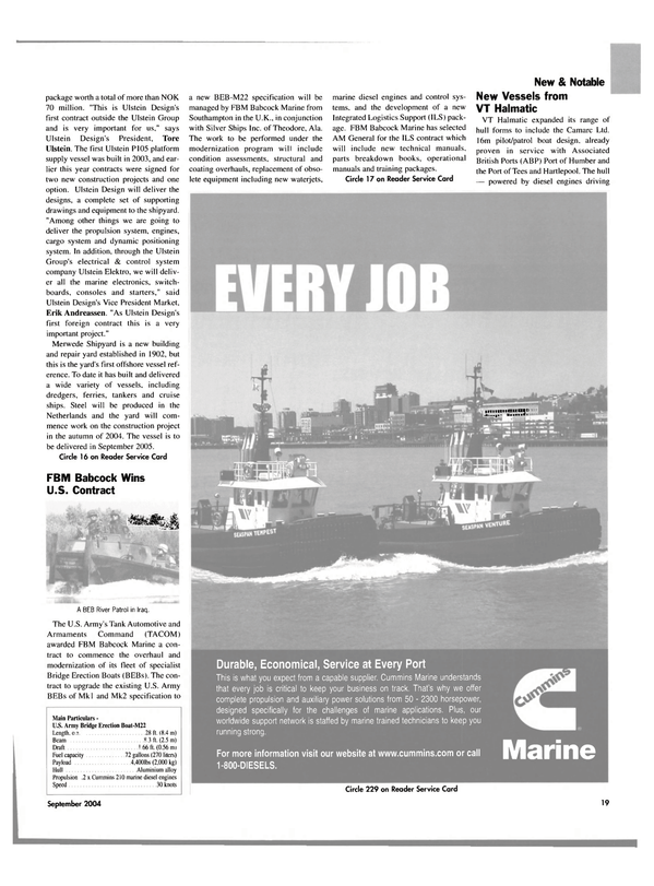 Maritime Reporter Magazine, page 20,  Sep 2004