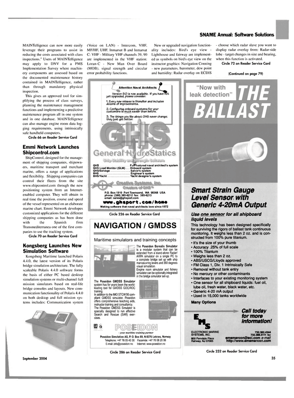 Maritime Reporter Magazine, page 36,  Sep 2004