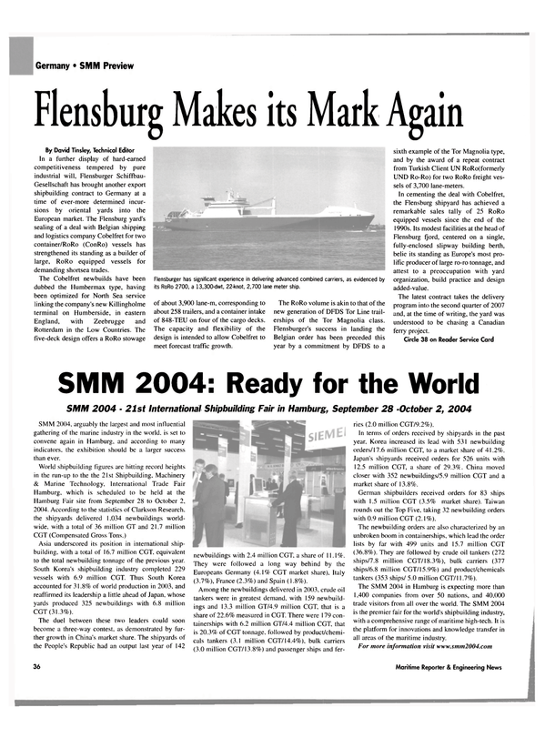 Maritime Reporter Magazine, page 37,  Sep 2004