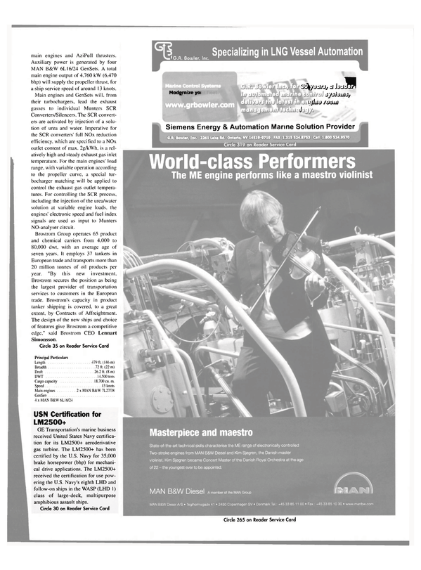 Maritime Reporter Magazine, page 56,  Sep 2004