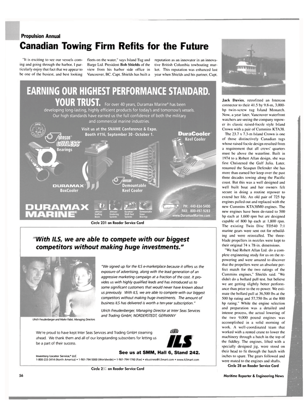 Maritime Reporter Magazine, page 57,  Sep 2004