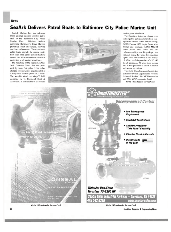 Maritime Reporter Magazine, page 20,  Oct 2004