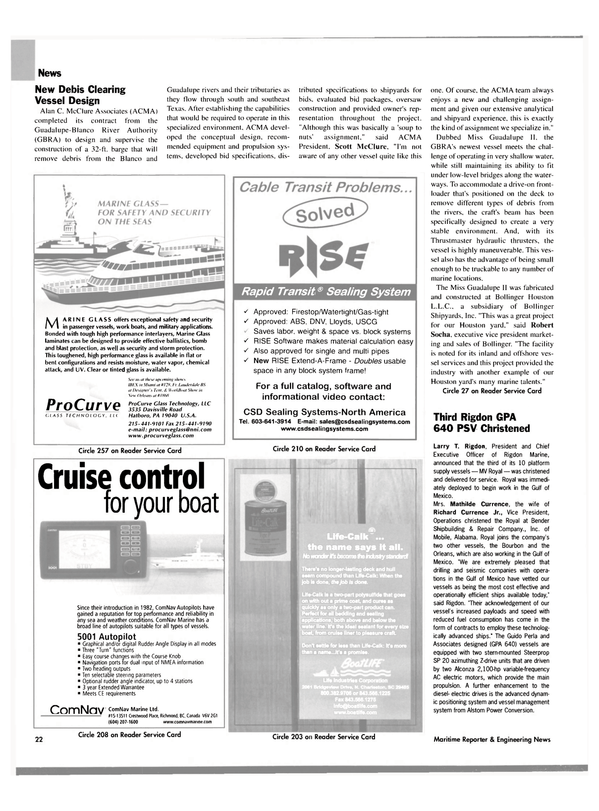 Maritime Reporter Magazine, page 22,  Oct 2004