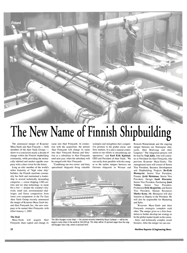 Maritime Reporter Magazine, page 32,  Oct 2004