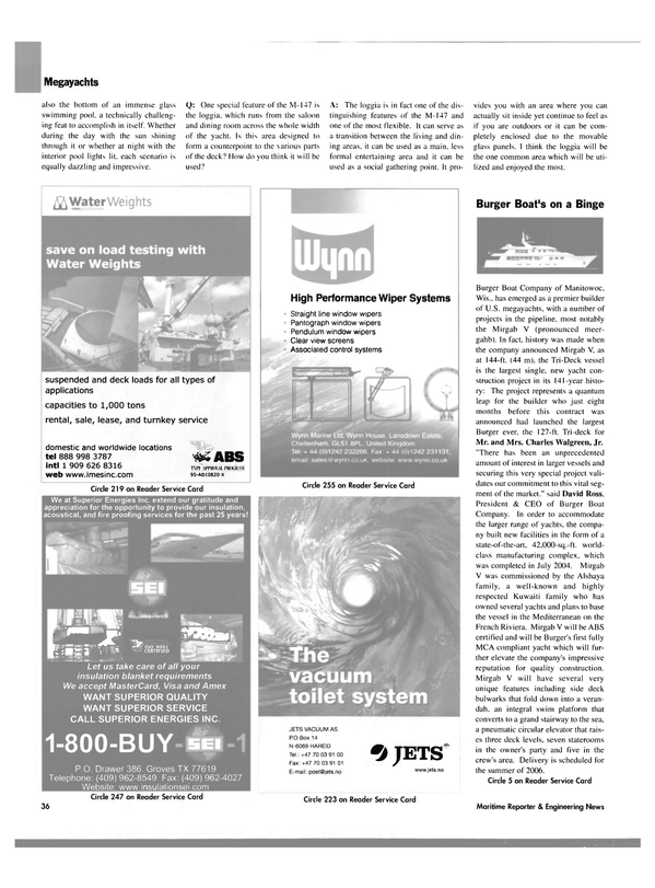 Maritime Reporter Magazine, page 36,  Oct 2004