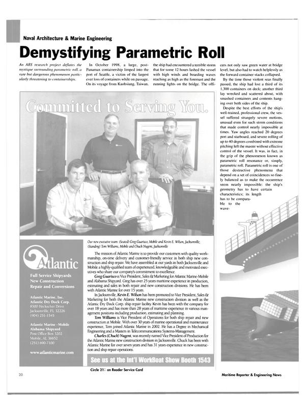 Maritime Reporter Magazine, page 20,  Nov 2004 Chuck Nugent