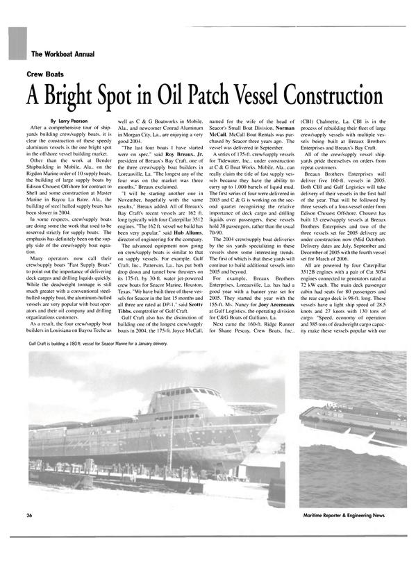 Maritime Reporter Magazine, page 26,  Nov 2004