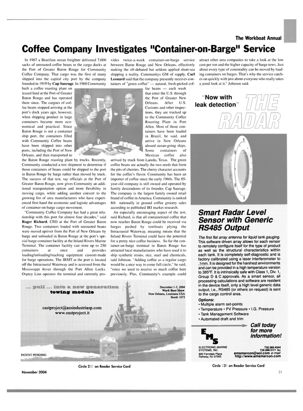 Maritime Reporter Magazine, page 31,  Nov 2004 Mississippi