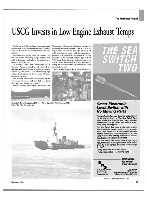 Maritime Reporter Magazine, page 33,  Nov 2004