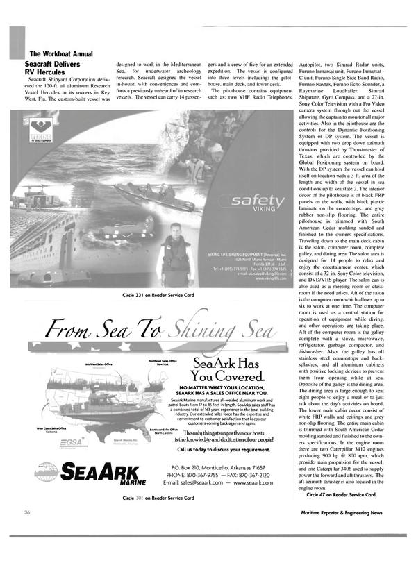 Maritime Reporter Magazine, page 36,  Nov 2004 Mediterranean