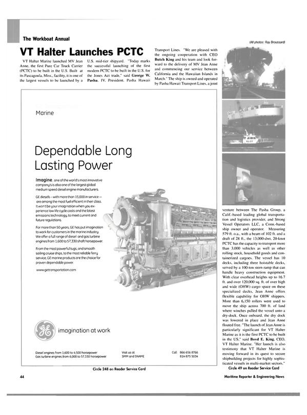 Maritime Reporter Magazine, page 42,  Nov 2004