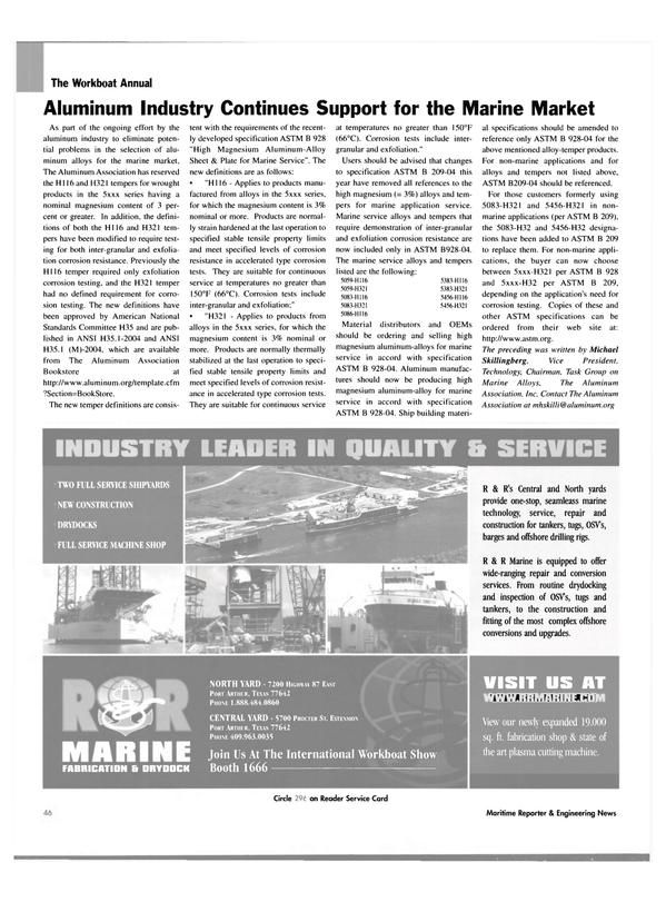 Maritime Reporter Magazine, page 44,  Nov 2004 non-marine applications