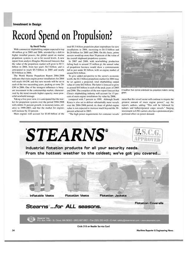 Maritime Reporter Magazine, page 54,  Nov 2004