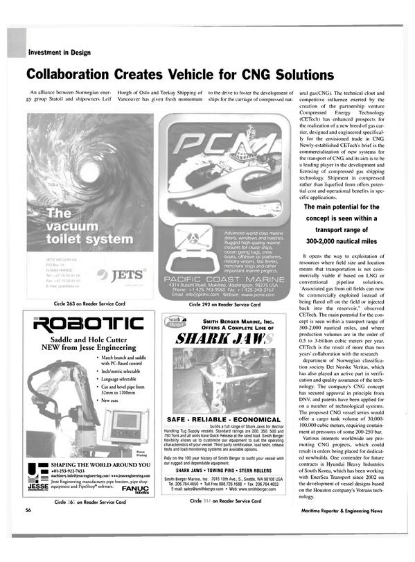 Maritime Reporter Magazine, page 56,  Nov 2004