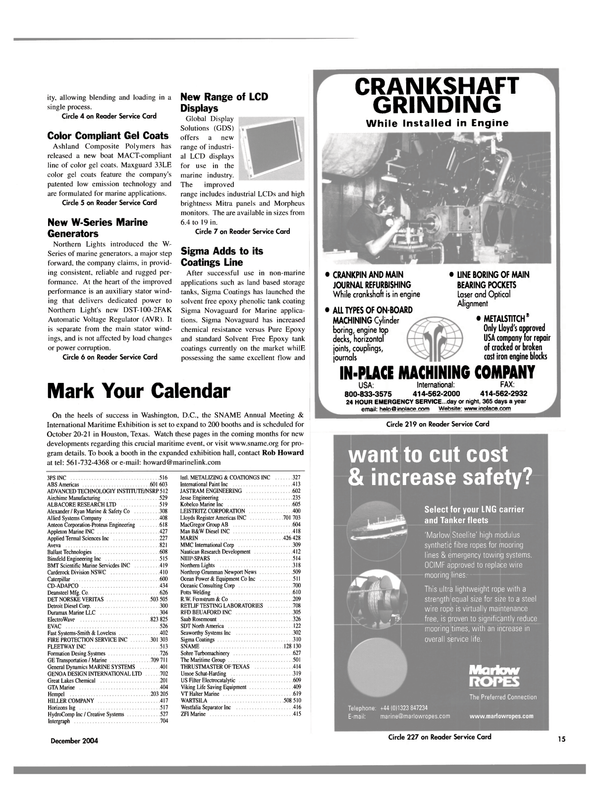 Maritime Reporter Magazine, page 15,  Dec 2004 Texas