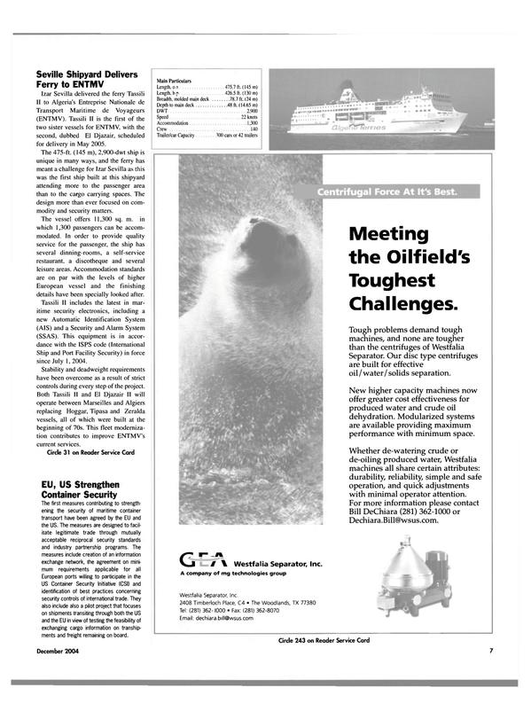 Maritime Reporter Magazine, page 7,  Dec 2004