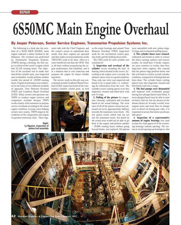 Maritime Reporter Magazine, page 42,  Jan 2013