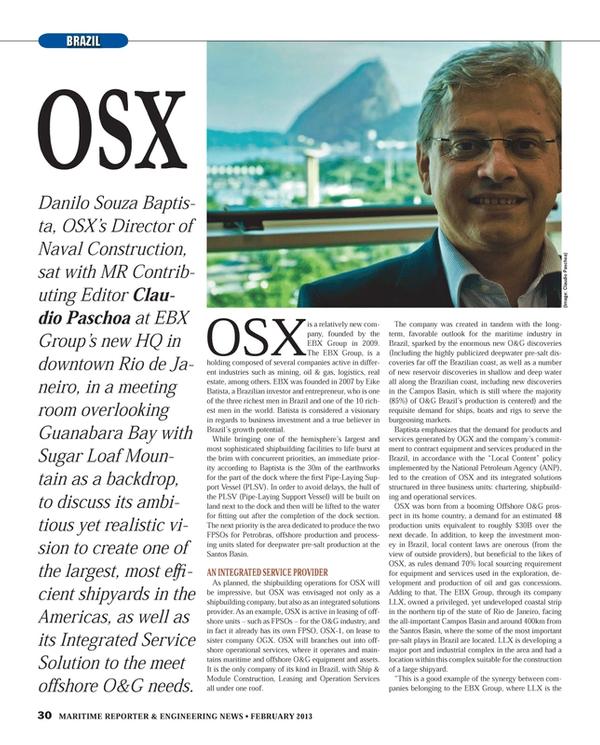 Maritime Reporter Magazine, page 30,  Feb 2013
