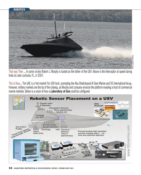 Maritime Reporter Magazine, page 34,  Feb 2013 Robert J. Murphy
