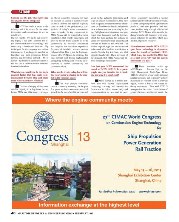 Maritime Reporter Magazine, page 40,  Feb 2013