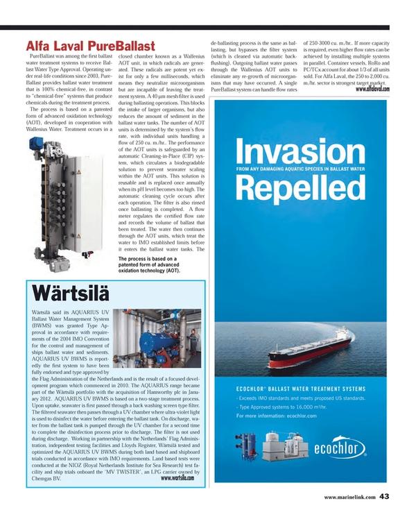 Maritime Reporter Magazine, page 43,  Feb 2013