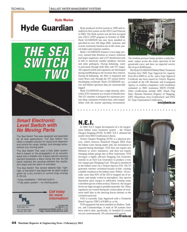 Maritime Reporter Magazine, page 44,  Feb 2013