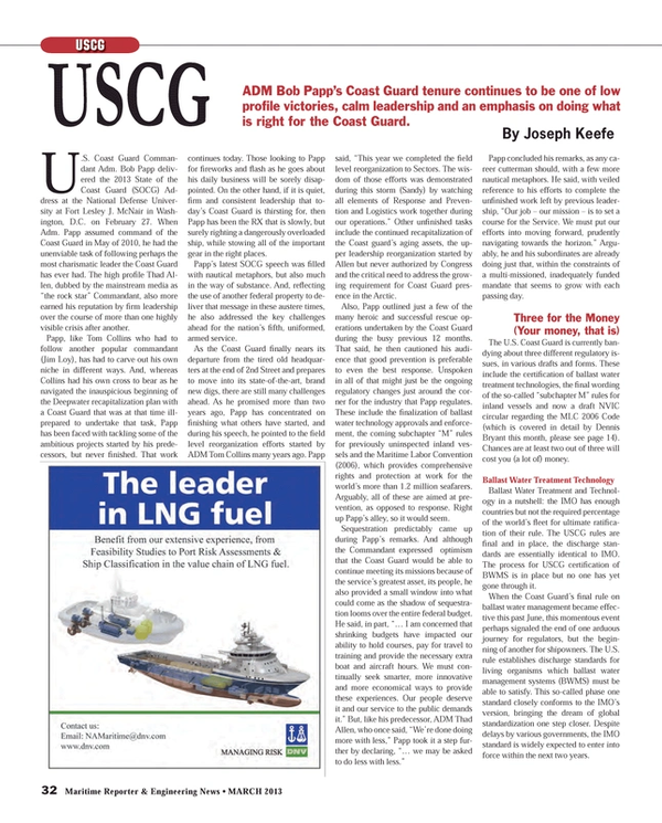Maritime Reporter Magazine, page 32,  Mar 2013 Dennis Bryant
