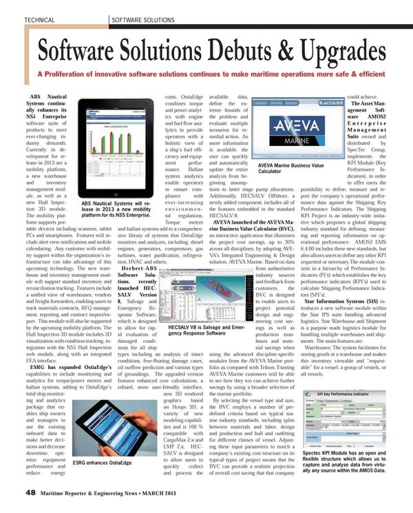 Maritime Reporter Magazine, page 48,  Mar 2013 condi-tions