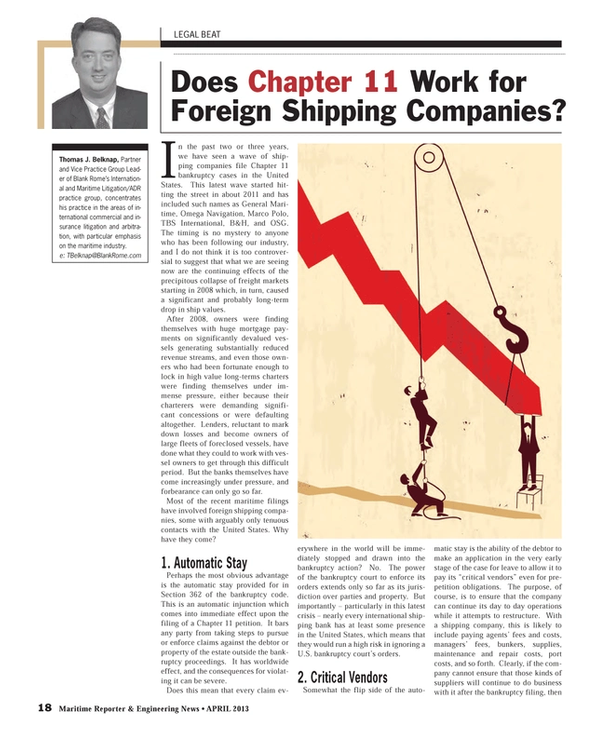 Maritime Reporter Magazine, page 18,  Apr 2013 bank-ruptcy proceedings