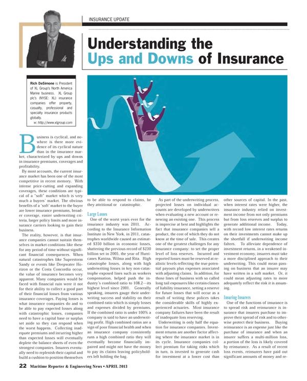 Maritime Reporter Magazine, page 22,  Apr 2013 DeSimone