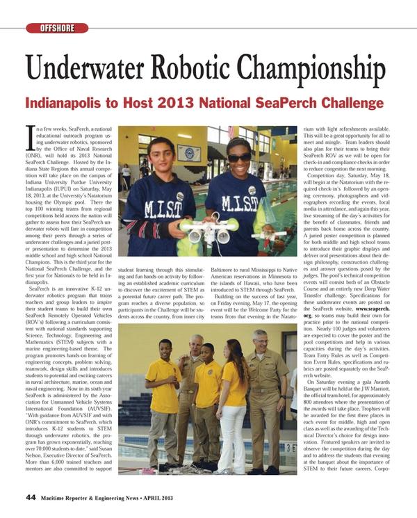 Maritime Reporter Magazine, page 44,  Apr 2013