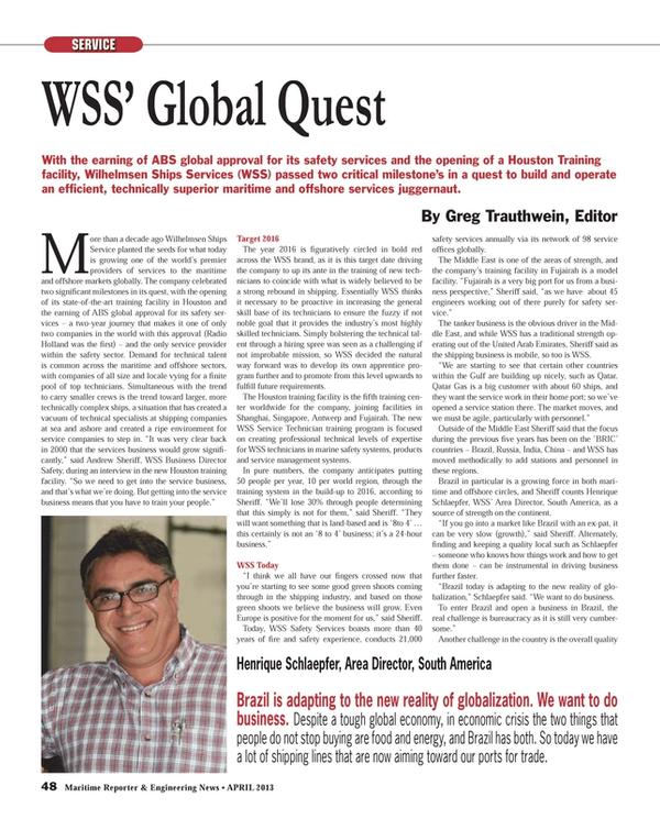 Maritime Reporter Magazine, page 48,  Apr 2013