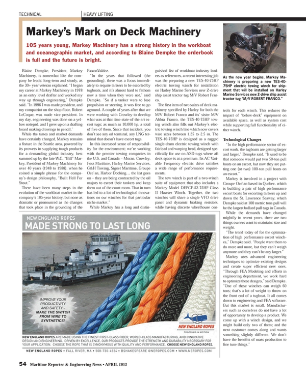 Maritime Reporter Magazine, page 54,  Apr 2013