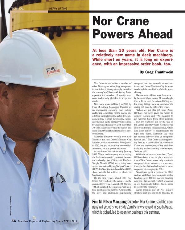 Maritime Reporter Magazine, page 56,  Apr 2013