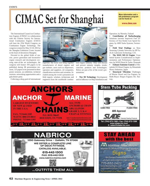 Maritime Reporter Magazine, page 62,  Apr 2013