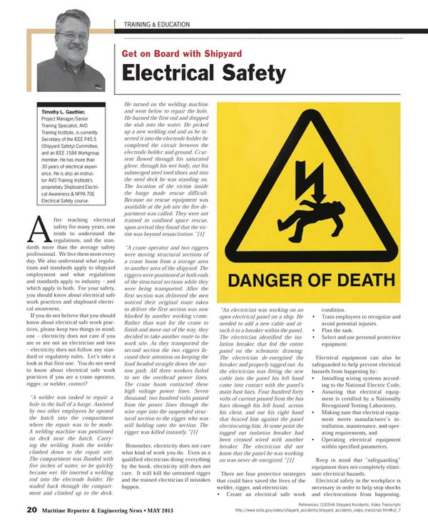 Get on Board with Shipyard Electrical Safety