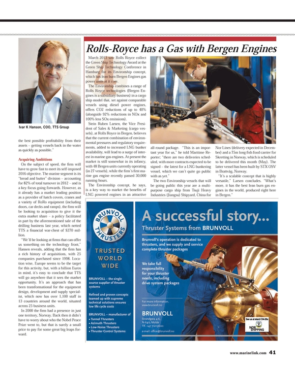 Maritime Reporter Magazine, page 41,  May 2013